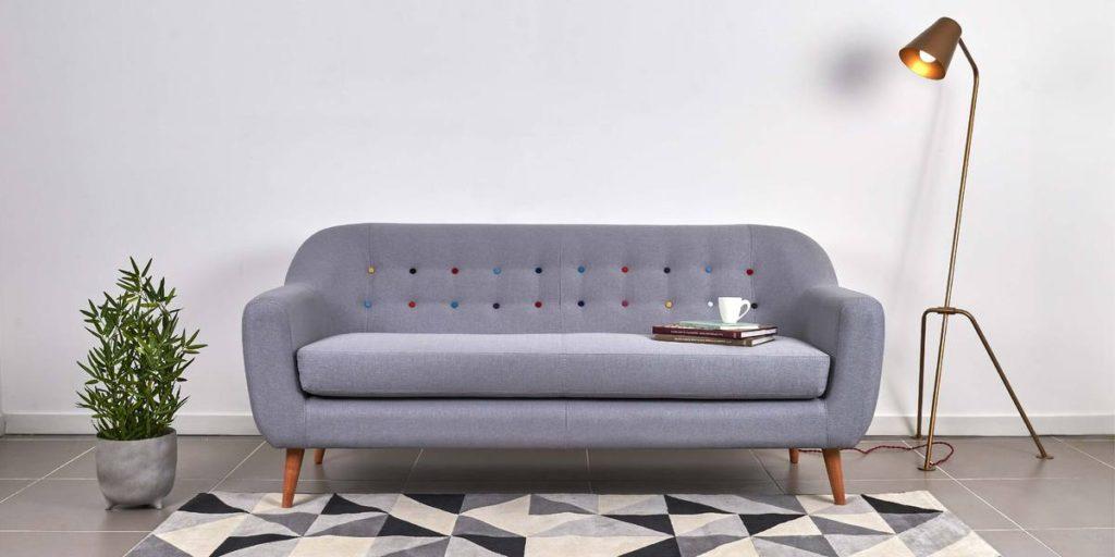 sofa moderno gris elaborados