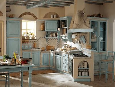 estilo campestre cocina