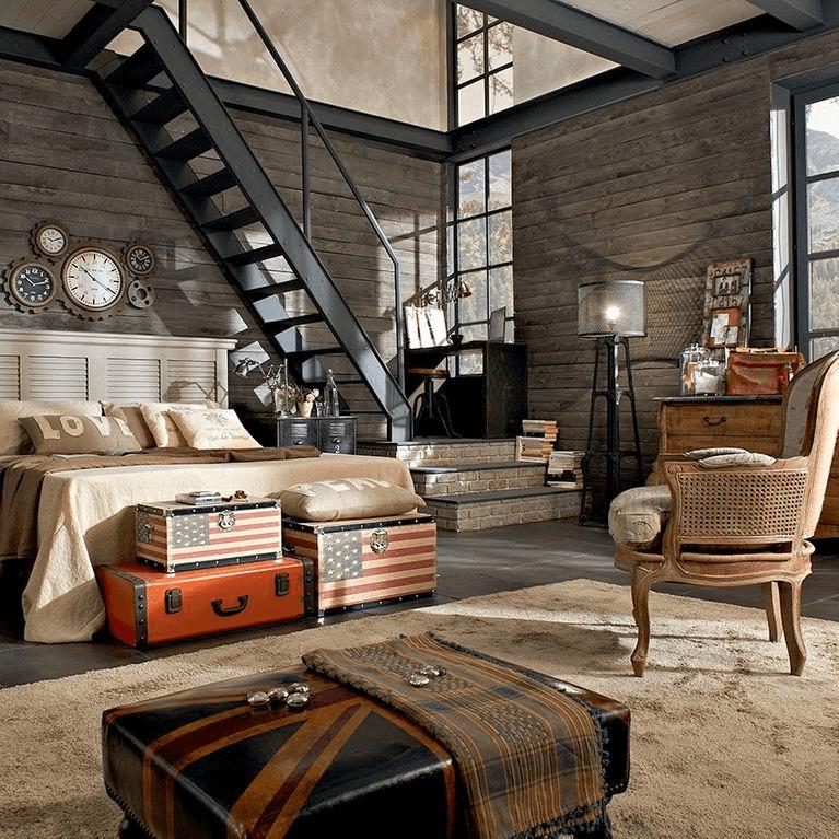 sala con estilo indutria