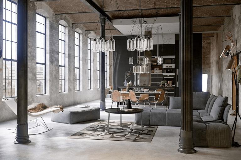 estilo industrial loft