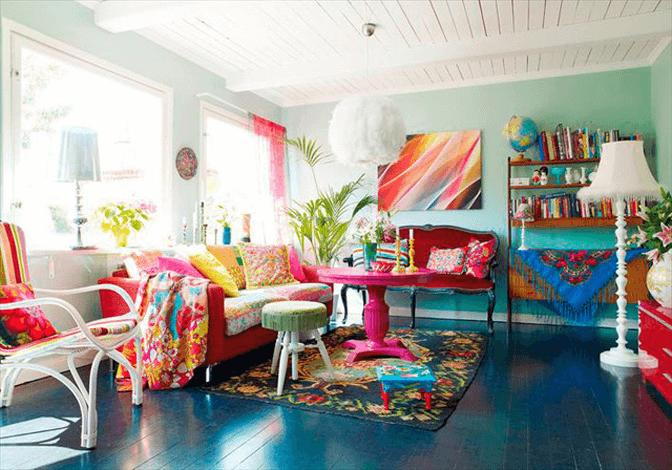 sala llamativa kitsch