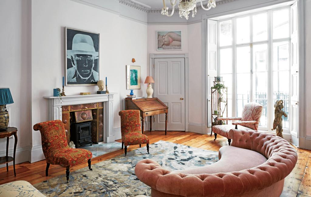 sala victoriana y moderna