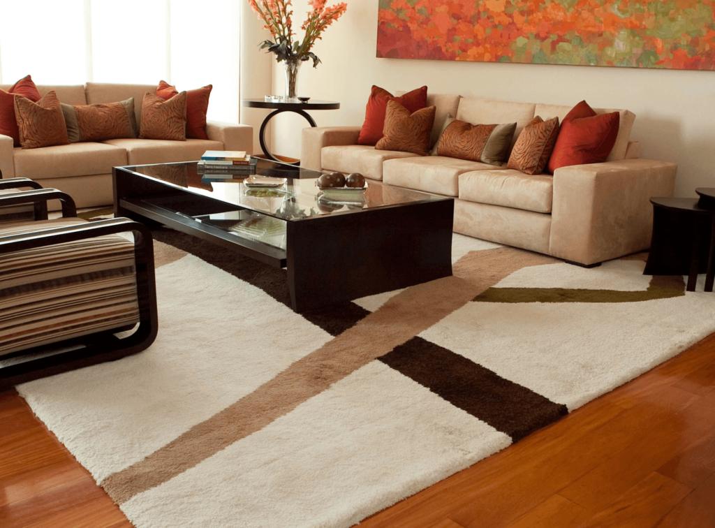 salas con alfombras