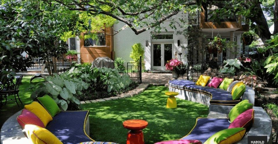idea jardin colorido