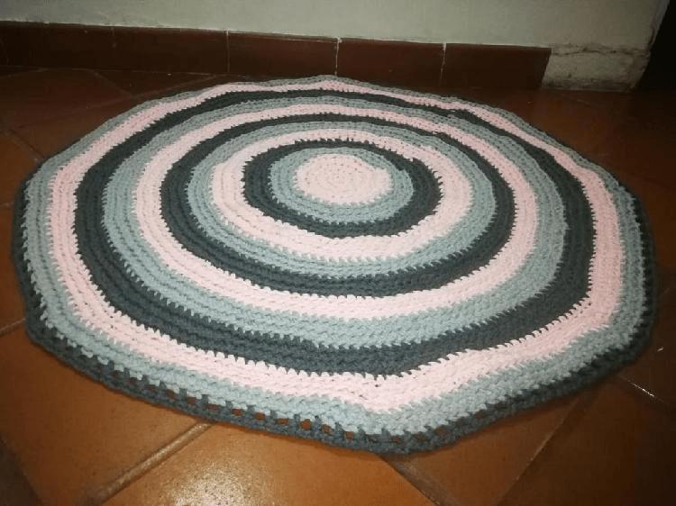 tapete hecho con trapillo