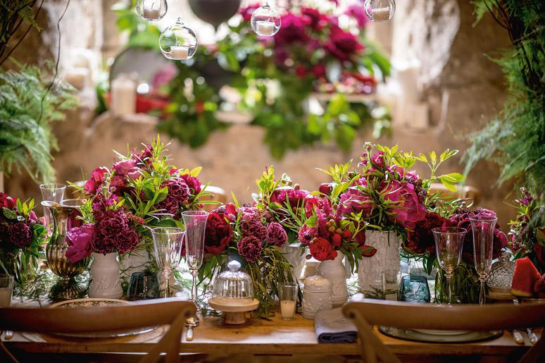 decorar con plantas florales