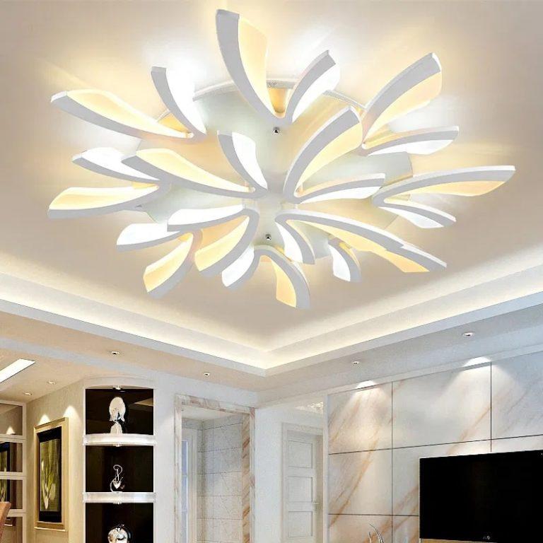 decoracion con lámparas de techo
