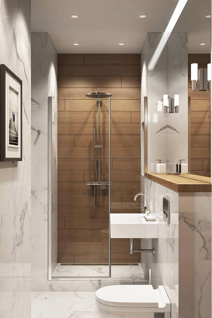 decorar baños pequeños con duchas