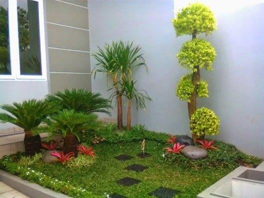 como decorar con plantas para exteriores