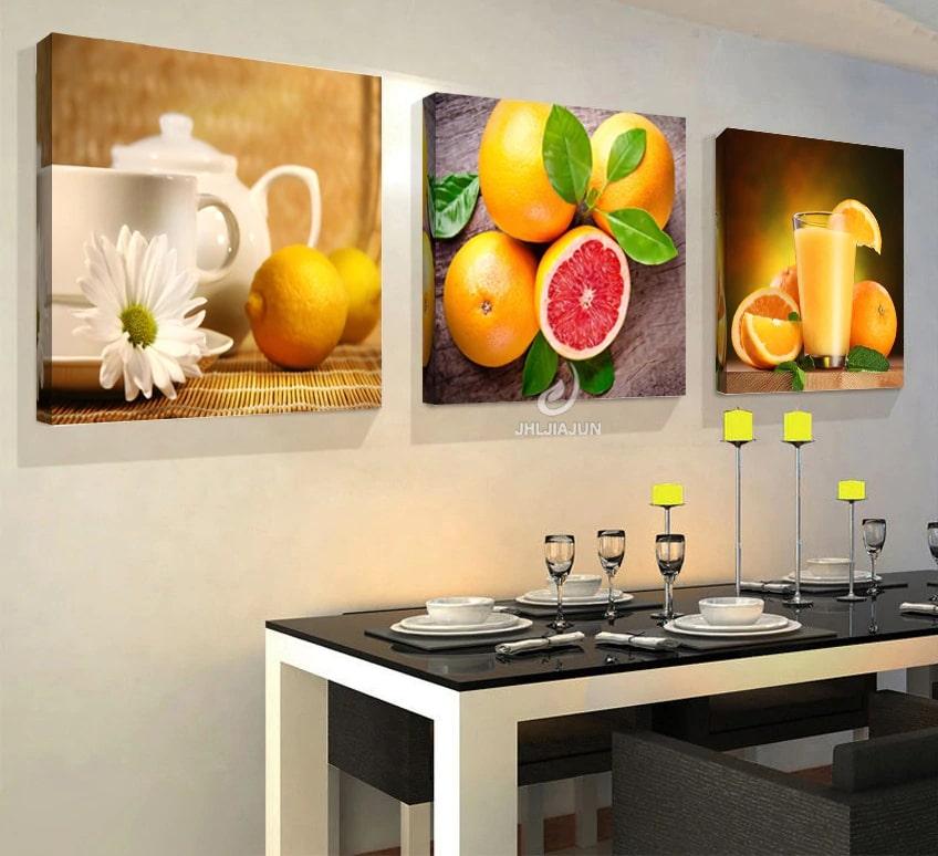 cuadro con frutas