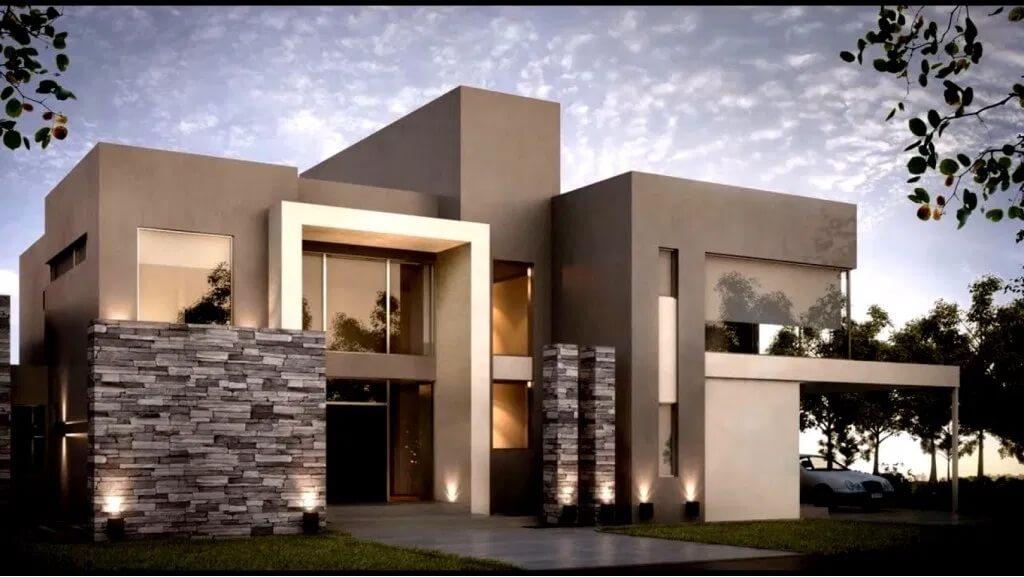 diseño fachada de casa moderna