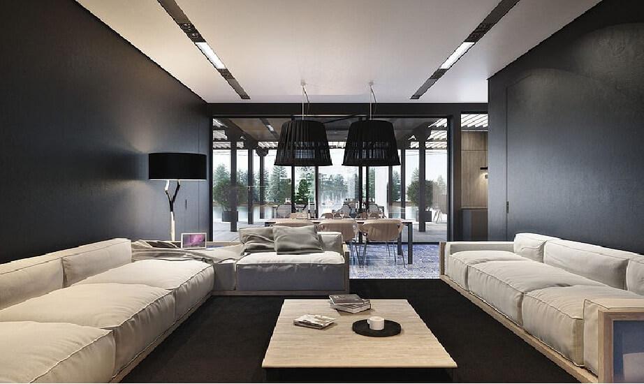 muebles de una sala moderna