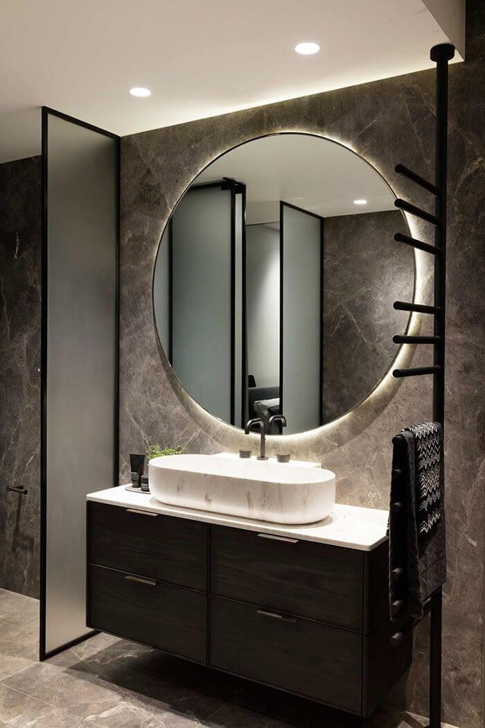 decorar con espejos para baños