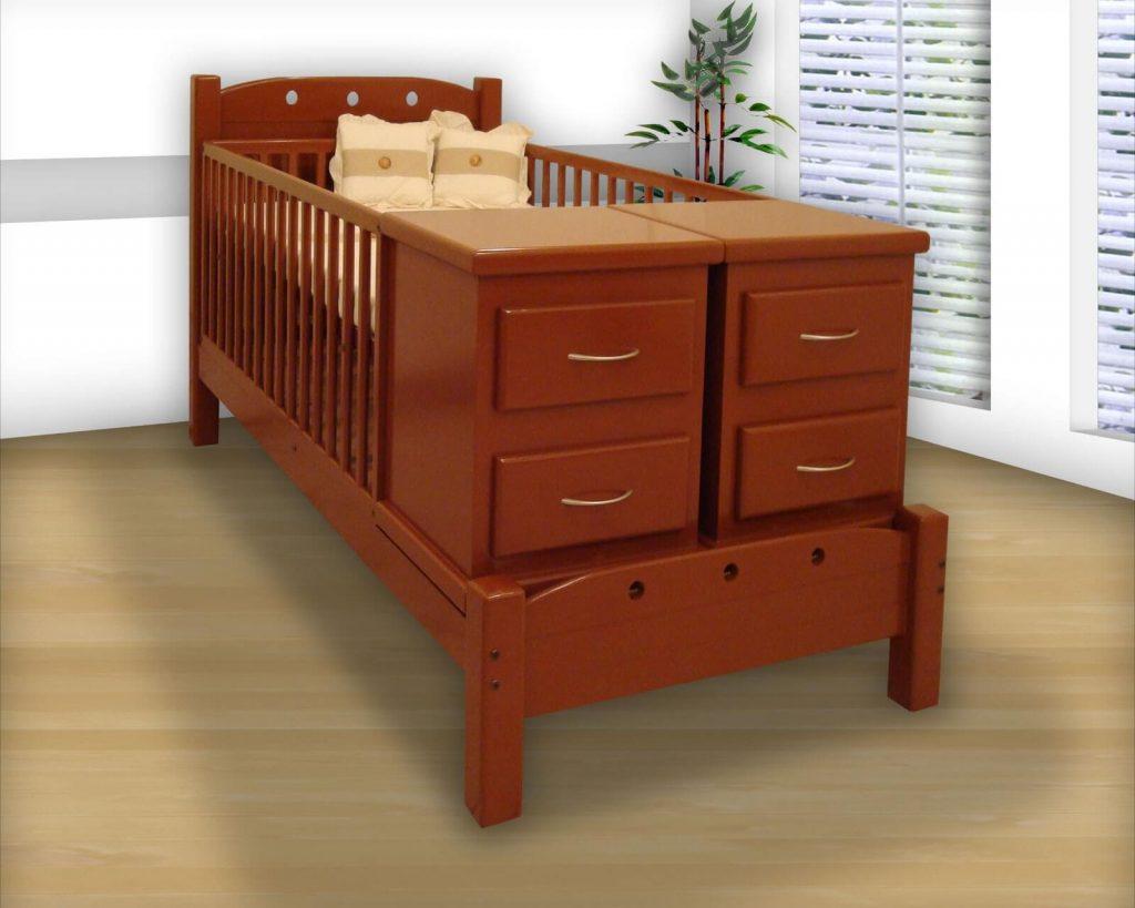 imagen cama cuna de madera