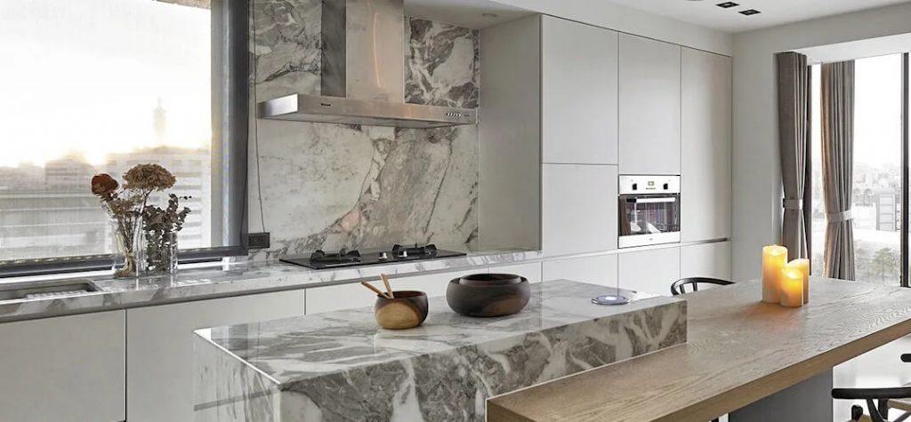 mesones de cocina de marmol
