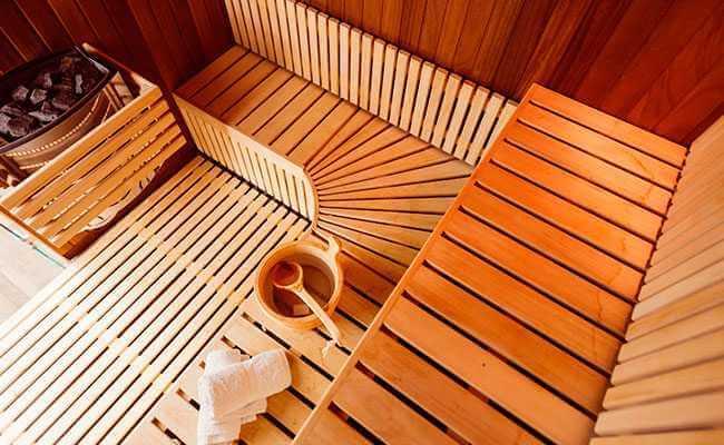 saunas con vigas de madera