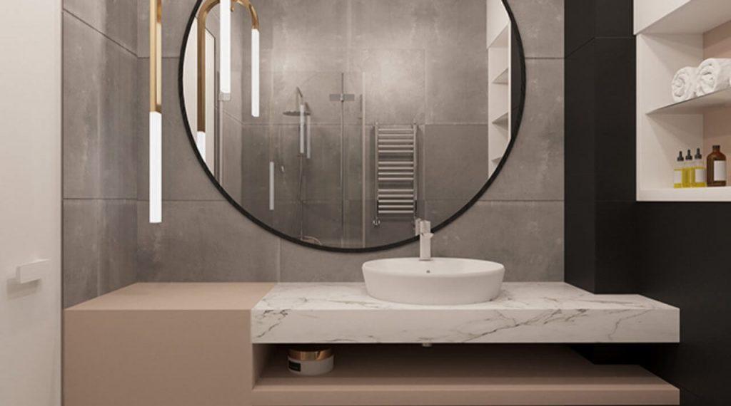 espejo para baño redondo