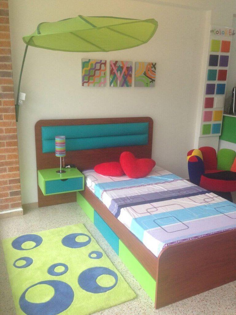 cama con diseño