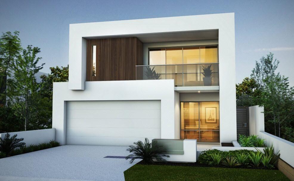 decorar fachadas de casa blancas