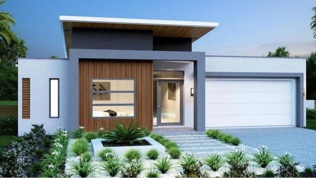fachada de casa con plantas